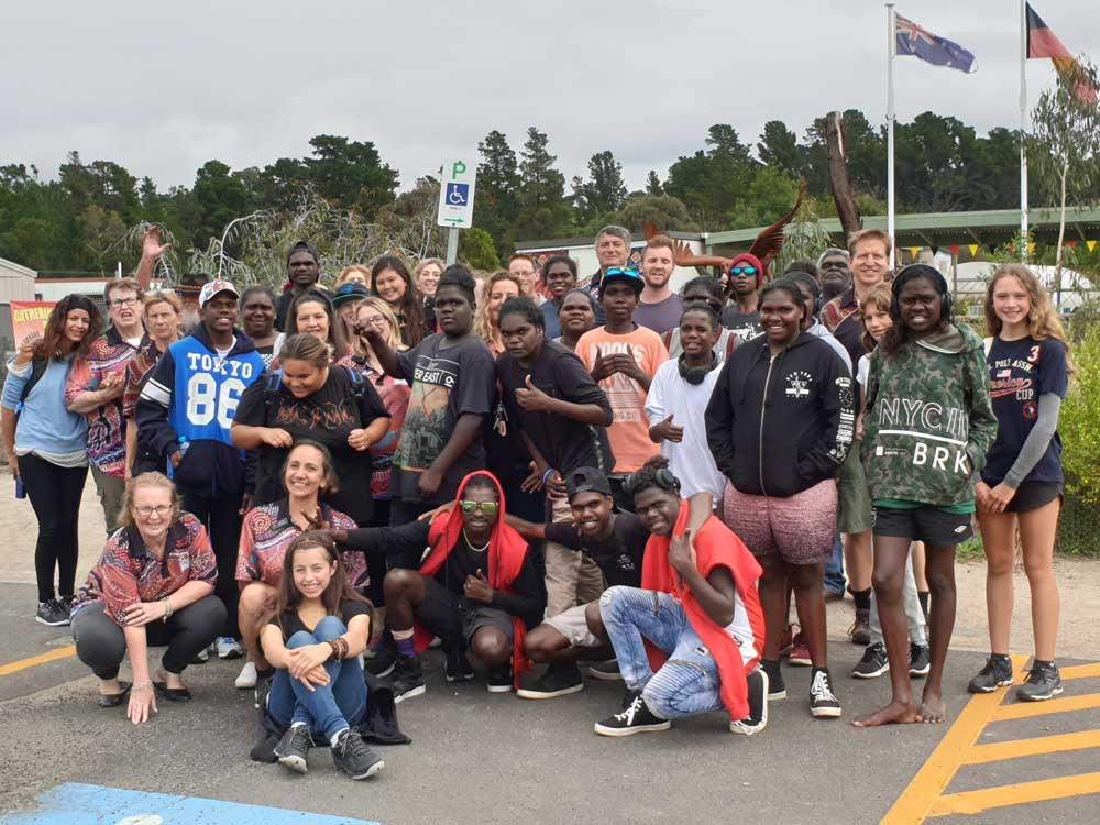 Yolngu visit to Willum Warrain with Woodleigh School, 21st March, 2019